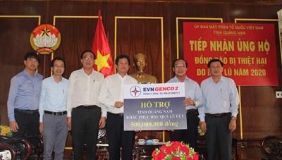 Mặt trận tỉnh Quảng Nam tiếp nhận 500 triệu đồng ủng hộ bà con vùng lũ
