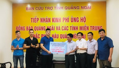 Mặt trận tỉnh Quảng Ngãi tiếp nhận 2 tỷ đồng ủng hộ bà con vùng lũ