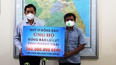 Quảng Ngãi: Ông Đoàn Ngọc Hải trao 360 triệu đồng khắc phục hậu quả thiên tai