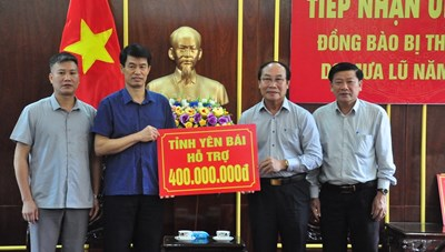 Tỉnh Yên Bái ủng hộ 400 triệu đồng cho người dân vùng lũ Quảng Nam