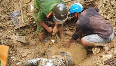 Vụ sạt lở đất ở Trà Leng: Phát hiện thêm một thi thể
