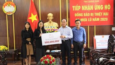 Mặt trận Quảng Nam tiếp nhận ủng hộ đồng bào bị thiên tai