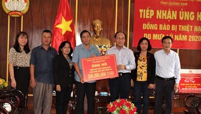 Tỉnh Đồng Tháp ủng hộ người dân Quảng Nam 500 triệu đồng