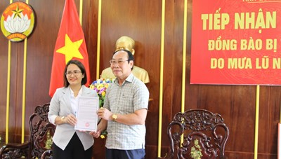 Quảng Nam: Tiếp nhận 200 triệu đồng ủng hộ khắc phục thiệt hại thiên tai