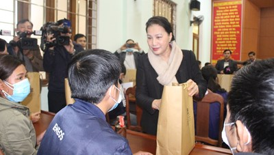 Chủ tịch Quốc hội thăm, làm việc tại tỉnh Quảng Nam