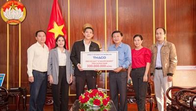 Quảng Nam: Thaco ủng hộ 300 triệu đồng cho Quỹ vì người nghèo