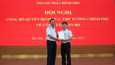Ông Lê Sỹ Bảy được bổ nhiệm Phó Tổng Thanh tra Chính phủ