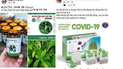 Cảnh báo mua bán các dạng Xuyên Tâm Liên 'điều trị Covid-19' trên mạng xã hội