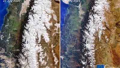 'Hạn hán lớn' ở dãy Andes do biến đổi khí hậu khiến một số đỉnh núi không có tuyết