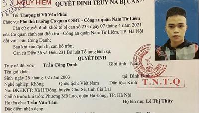 Hà Nội: Truy nã toàn quốc đối tượng 10x chém người thương tích