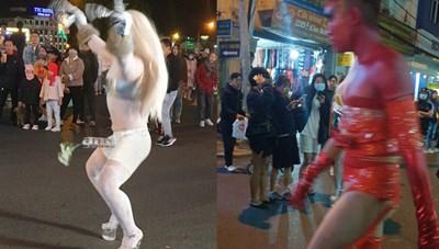 Phạt 7,5 triệu đồng với thanh niên ăn mặc phản cảm trên phố tại Đà Lạt