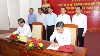 Ký kết hợp tác phát triển toàn diện Hậu Giang - Cần Thơ giai đoạn 2021 - 2025