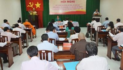 Kiên Giang: Tổ chức thành công hội nghị hiệp thương lần ba