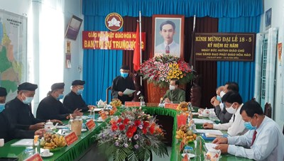 An Giang: Bí thư Tỉnh uỷ Lê Hồng Quang thăm, chúc mừng ngày khai đạo Phật giáo Hoà Hảo