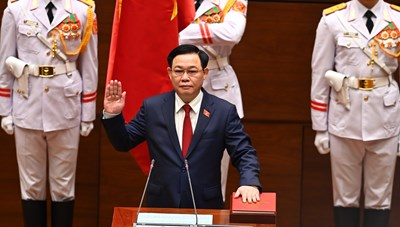 [VIDEO] Ông Vương Đình Huệ tuyên thệ nhậm chức Chủ tịch Quốc hội