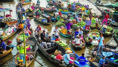 Chợ nổi sông hoa