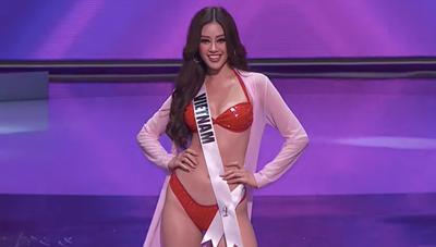 Khánh Vân thần thái, cuốn hút thi Bikini tại Miss Universe 2020