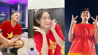 Sao Việt cổ vũ cho Đội tuyển Việt Nam trước trận gặp Malaysia