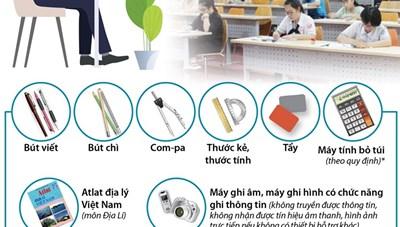 Tuyển sinh lớp 10 tại Hà Nội: Thí sinh được mang gì vào phòng thi?