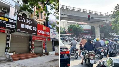 Hà Nội: Hàng quán đóng cửa, phố phường vẫn tấp nập