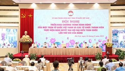 Khai mạc Hội nghị Triển khai Chương trình hành động của MTTQ Việt Nam và các tổ chức thành viên thực hiện Nghị quyết của Đảng