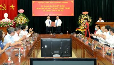 Ban Bí thư bổ nhiệm Phó Giám đốc Học viện Chính trị Quốc gia Hồ Chí Minh