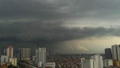 Chiều nay, cảnh báo mưa dông khu vực nội thành Hà Nội