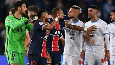 [VIDEO] Màn ẩu đả khiến 5 cầu thủ nhận thẻ đỏ trận PSG - Marseille