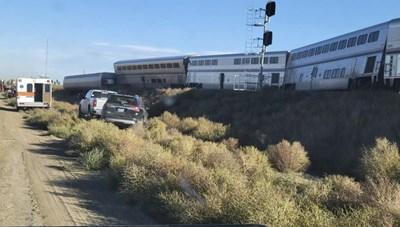 Mỹ: Ít nhất 3 người thiệt mạng trong vụ trật bánh tàu hoả