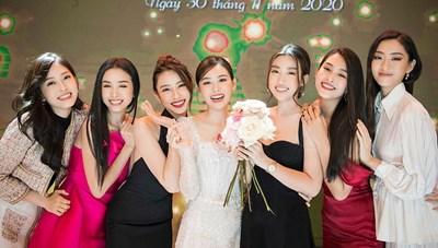 [ẢNH] 'Sao' Việt trong ngày: Dàn hoa hậu đọ sắc trong đám cưới Á hậu Tường San