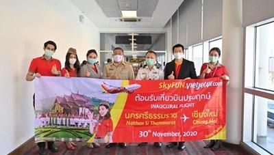 Vietjet Thái Lan khai trương đường bay mới đến Chiang Mai