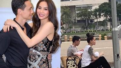 'Sao' Việt trong ngày: Kim Lý khiến Fans bật cười khi ngồi vỉa hè bế con
