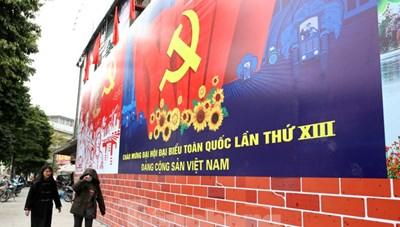 [ẢNH] Hà Nội chào mừng Đại hội Đảng