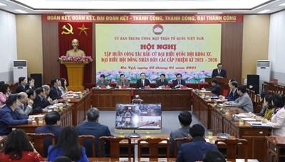 BẢN TIN MẶT TRẬN: Hội nghị trực tuyến tập huấn công tác bầu cử