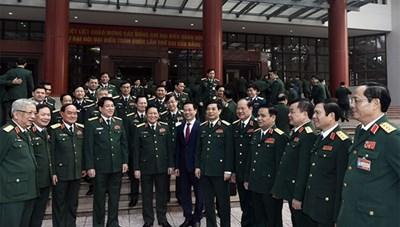 Quân ủy Trung ương gặp mặt đại biểu Quân đội dự Đại hội XIII