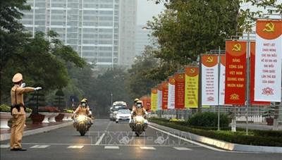 Bảo đảm an ninh giao thông, không để xảy ra sơ xuất trong Đại hội XIII