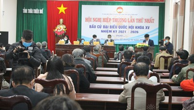 Thừa Thiên - Huế: Kiến nghị chuyển cơ cấu ứng cử viên đại biểu Quốc hội