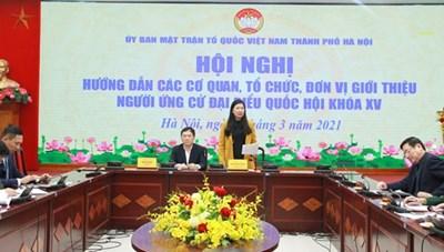 BẢN TIN MẶT TRẬN: Không để xảy ra sai sót trong các bước chuẩn bị bầu cử tại Hà Nội