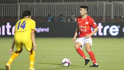 Lee Nguyễn ghi bàn giúp CLB TP HCM thắng đậm SL Nghệ An