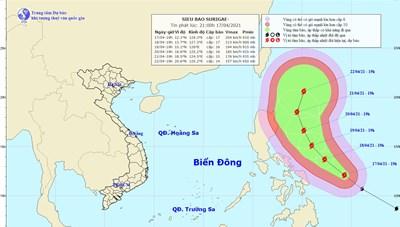 Sẵn sàng ứng phó siêu bão cực mạnh Surigae