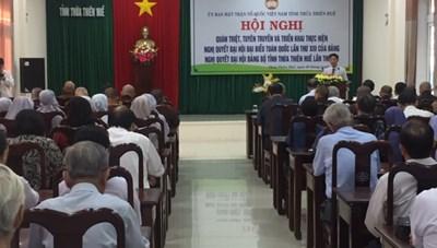 Thừa Thiên - Huế: Mặt trận tổ chức quán triệt các Nghị quyết của Đảng