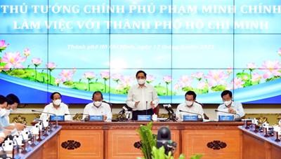 Thủ tướng Phạm Minh Chính làm việc với Thành phố Hồ Chí Minh