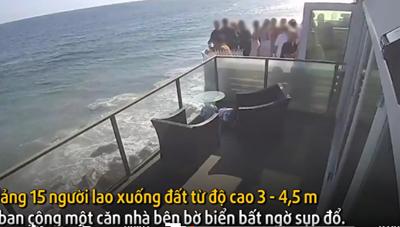 [VIDEO] Khoảnh khắc sập ban công tiệc sinh nhật từ độ cao 4 mét