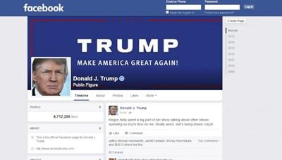 Facebook khóa dài hạn tài khoản cựu Tổng thống Donald Trump