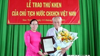 Chủ tịch nước gửi thư khen cụ ông gần 100 tuổi tích cực làm từ thiện
