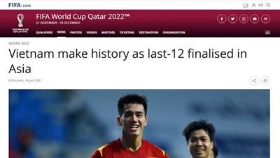 FIFA ấn tượng về đội tuyển Việt Nam với chiến tích lịch sử