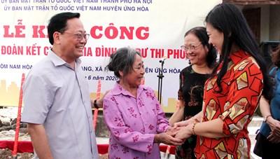 Hoàn thành 90 nhà Đại đoàn kết trước Đại hội Đảng bộ TP Hà Nội