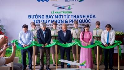 Bamboo Airways khai trương 3 đường bay mới kết nối Thanh Hóa - Quy Nhơn, Thanh Hóa - Phú Quốc, Vinh - Quy Nhơn