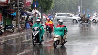 Hà Nội mưa rào và dông rải rác, nhiệt độ cao nhất 33 độ