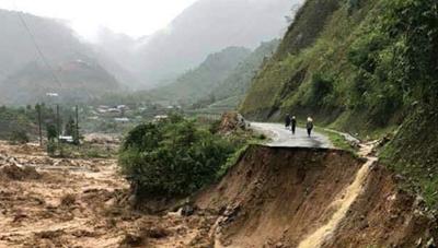 Mưa lớn ở Lai Châu, Điện Biên, Sơn La và Lào Cai, nguy cơ lũ quét, sạt lở đất
